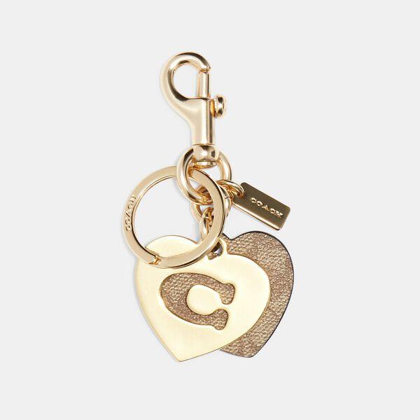 Signature Hearts Key Ring, IM/KHAKI, hi-res