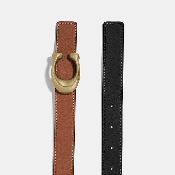 Sculpted Signature Reversible Belt, B4/BLACK 1941 SADDLE, hi-res