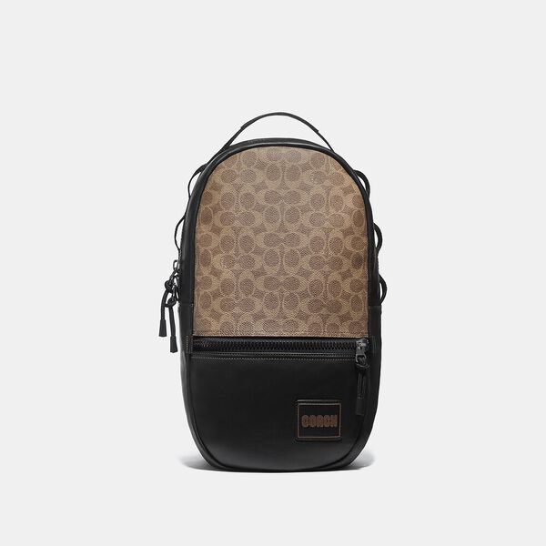 Pacer Backpack In Signature Canvas With Coach Patch
