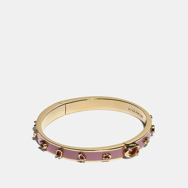 Pegged Signature Bangle, GOLD/ROSE, hi-res