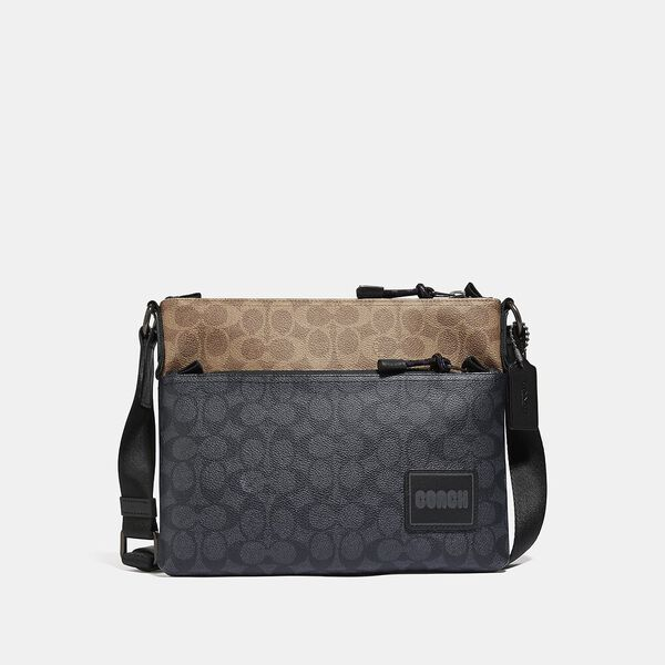 Pacer Crossbody In Colorblock Signature Canvas, JI/CHARCOAL MULTI, hi-res