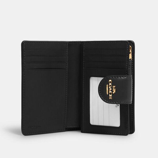 Medium Corner Zip Wallet In Signature Canvas, IM/BROWN BLACK, hi-res