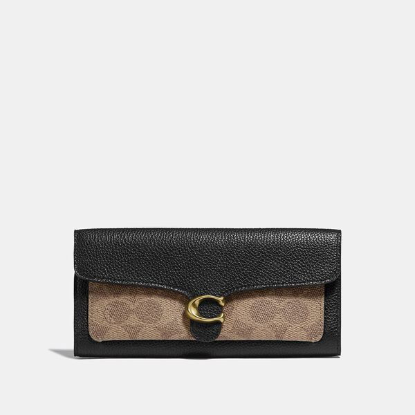 Tabby Long Wallet In Colorblock Signature Canvas
