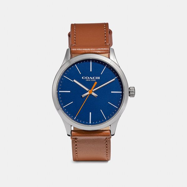 Baxter Watch Gift Set, 39Mm, SADDLE/BLACK, hi-res
