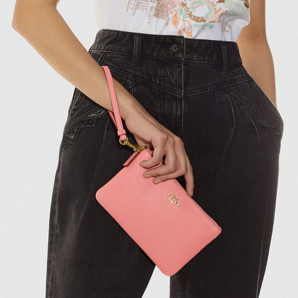 Small Wristlet, B4/CANDY PINK, hi-res