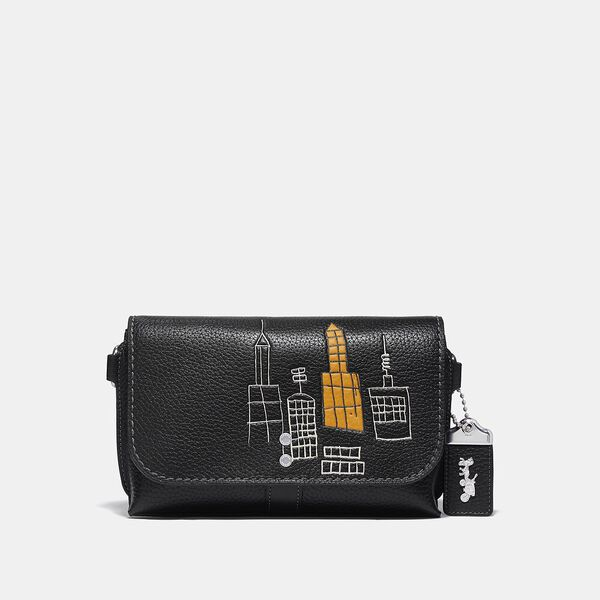 Coach X Basquiat Rogue Crossbody 20 In Glovetan Pebble In Mecca