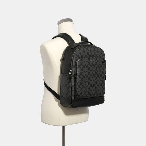 Graham Backpack In Signature Canvas, QB/CHARCOAL/BLACK, hi-res