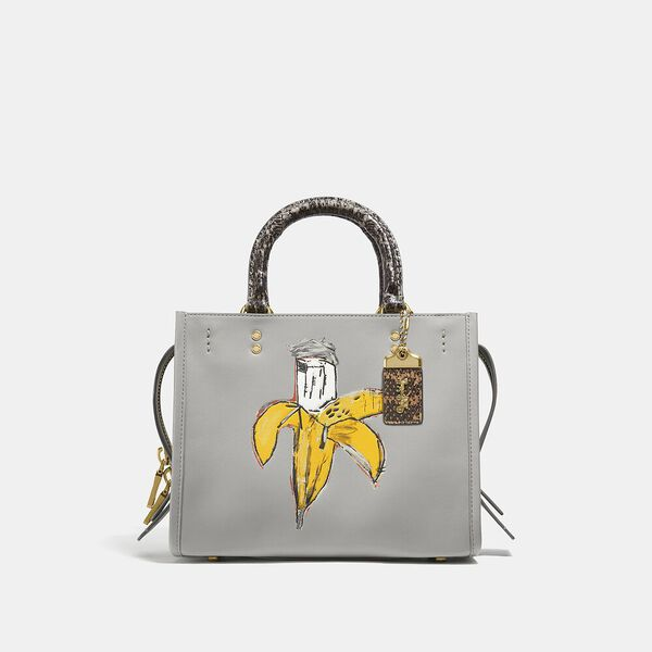 Coach X Basquiat Brown Spots And Snake Handle Rogue Bag 25