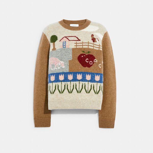 Block Landscape Sweater