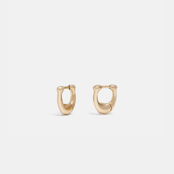 Signature Huggie Earrings, GOLD, hi-res