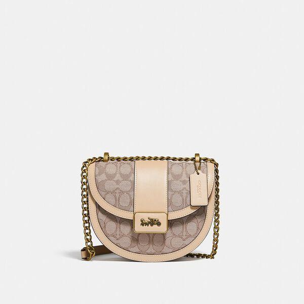 Alie Saddle Bag In Signature Jacquard