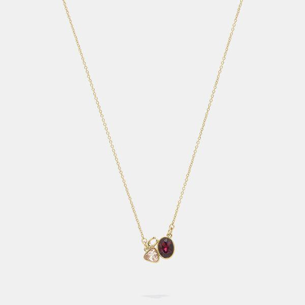 Signature Crystal Cluster Slider Necklace