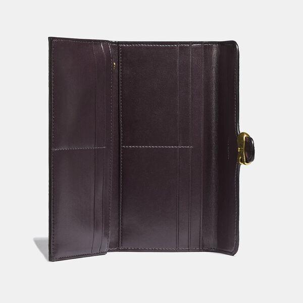 Tabby Long Wallet In Colorblock Signature Canvas, B4/TAN BLACK, hi-res