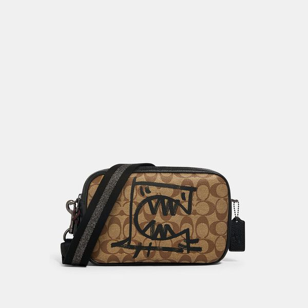 Vale Jes Crossbody In Signature Canvas With Rexy By Guang Yu