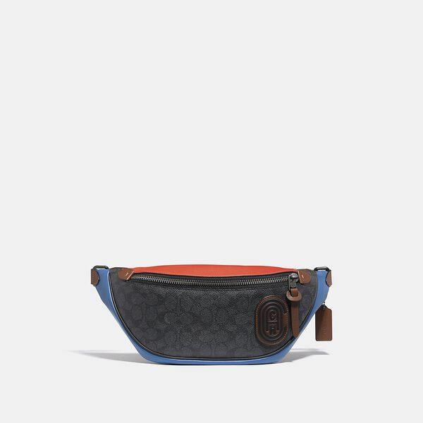 Rivington Belt Bag In Colorblock Signature Canvas With Coach Patch