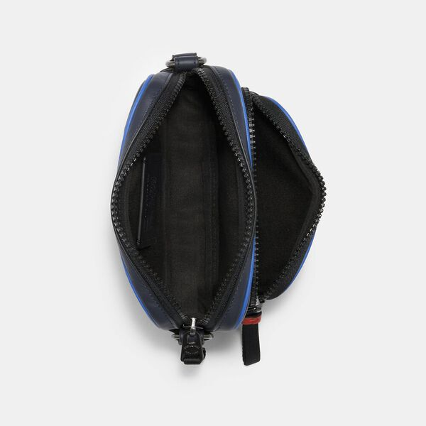 Mini Edge Double Pouch Crossbody With Coach Patch, QB/BLUE MULTI, hi-res