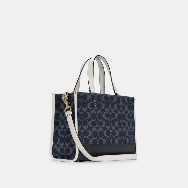 Dempsey Carryall In Signature Jacquard With Patch, IM/DENIM MULTI, hi-res