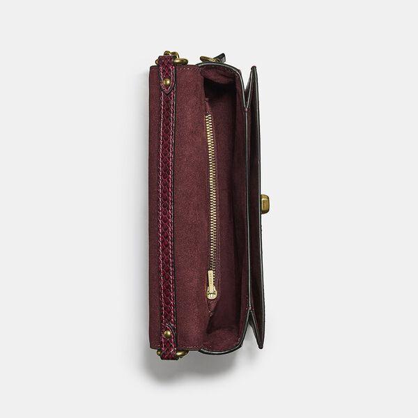 Hutton Shoulder Bag In Snakeskin, B4/CERISE, hi-res