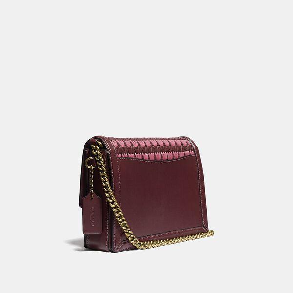 Hutton Shoulder Bag With Weaving, B4/WINE MULTI, hi-res