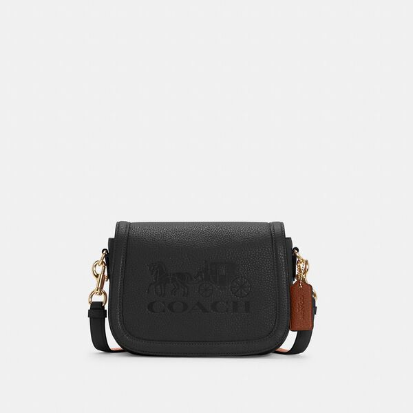 Saddle Bag With Horse And Carriage