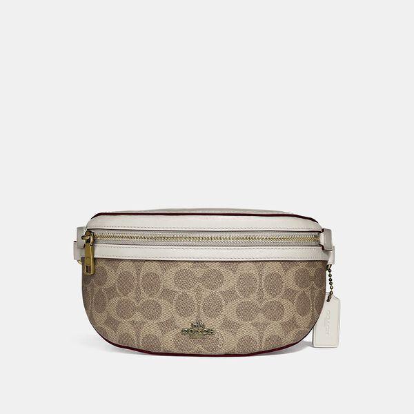 Belt Bag In Signature Canvas, B4/TAN CHALK, hi-res