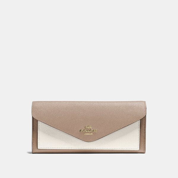 Soft Wallet In Colorblock, B4/TAUPE MULTI, hi-res