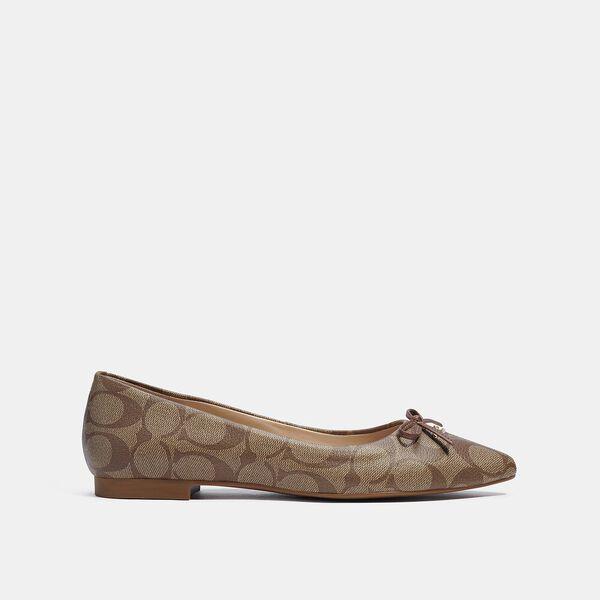 Annabel Ballet, KHAKI/SADDLE, hi-res