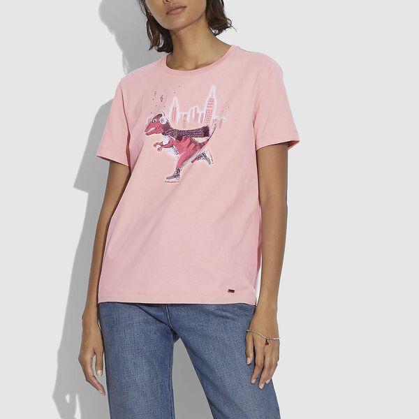 Rexy City T-Shirt, PINK, hi-res