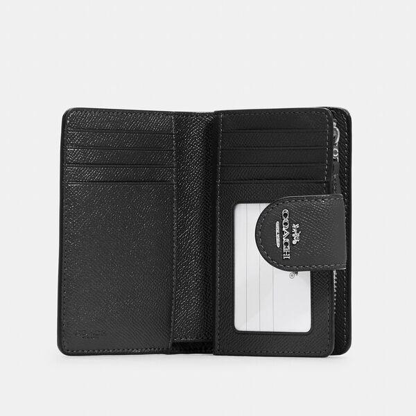 Medium Corner Zip Wallet, SV/BLACK, hi-res