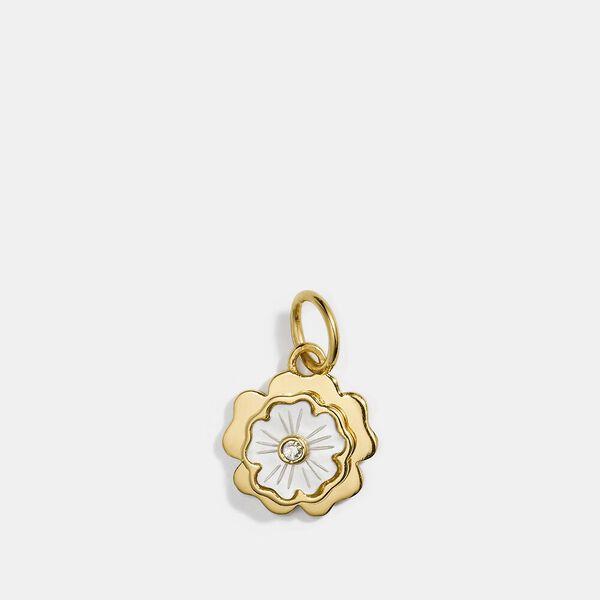 Collectible Tea Rose Charm, GOLD/MULTICOLOR, hi-res