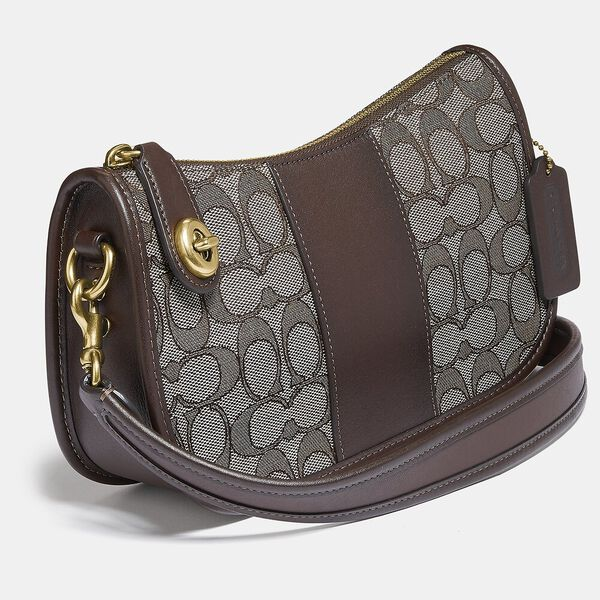 Swinger Bag In Signature Jacquard, B4/OAK MAPLE, hi-res