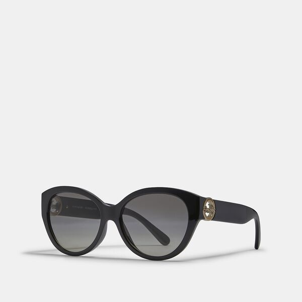 Oversized Metal Cat Eye Sunglasses