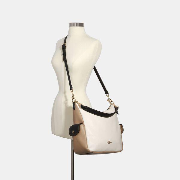Pennie Shoulder Bag In Colorblock, IM/CHALK MULTI, hi-res