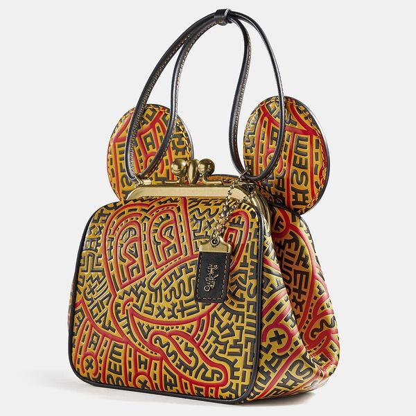 Disney Mickey Mouse X Keith Haring Kisslock Bag, B4/BLACK MULTI, hi-res