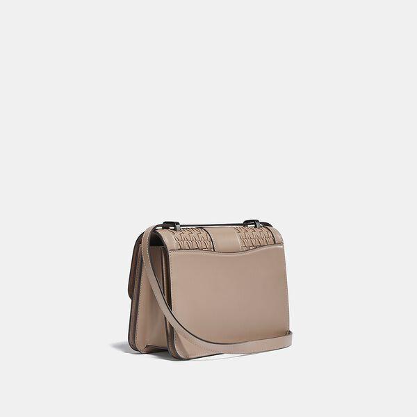Alie Shoulder Bag With Weaving, V5/TAUPE, hi-res