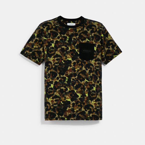 Camo Print Pocket T-Shirt In Organic Cotton