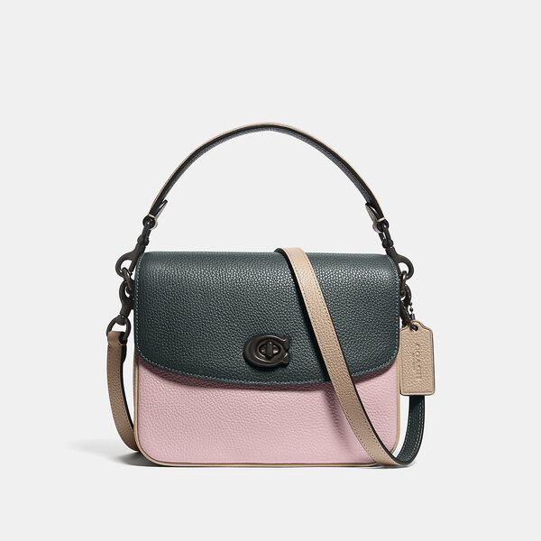 Cassie Crossbody 19 In Colorblock, V5/PNE GRN AURORA MULTI, hi-res