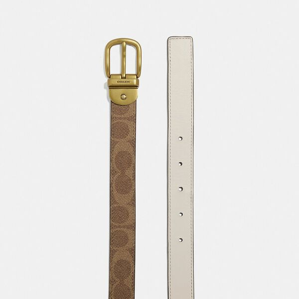 Classic Reversible Belt In Signature Canvas, B4/CHALK TAN, hi-res