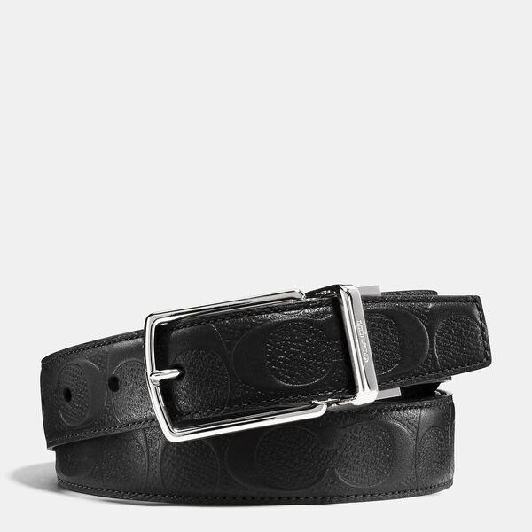 Harness Buckle Cut-To-Size Reversible Belt, 32mm, BLACK, hi-res