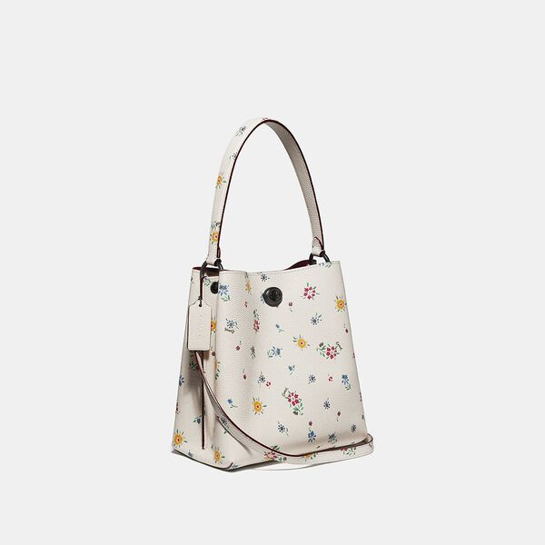 Charlie Bucket Bag 21 With Wildflower Print, V5/CHALK, hi-res