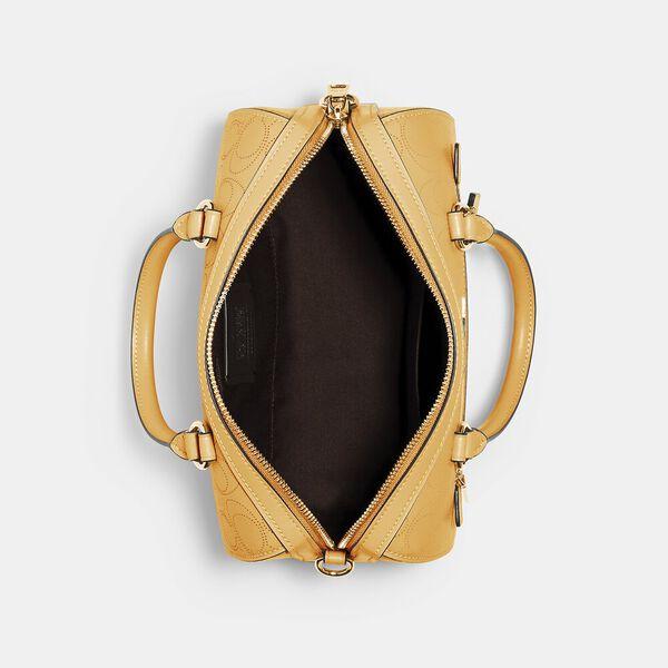 Rowan Satchel In Signature Leather, IM/HONEY, hi-res
