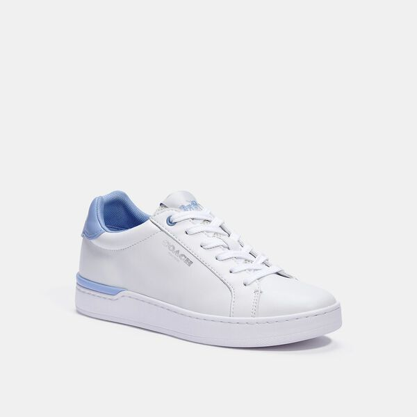 Clip Low Top Sneaker, OPTIC WHITE/ RETRO PERIWINKLE, hi-res