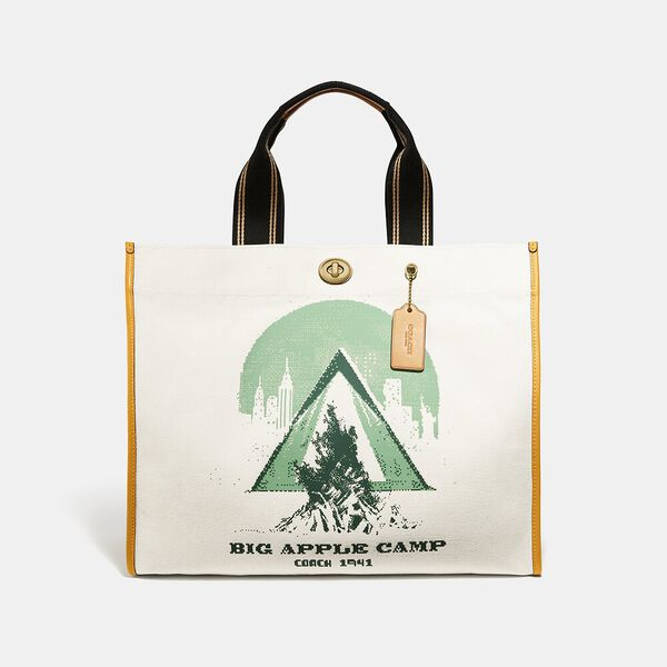 Tote 40 With Big Apple Camp Print, B4/CHALK, hi-res
