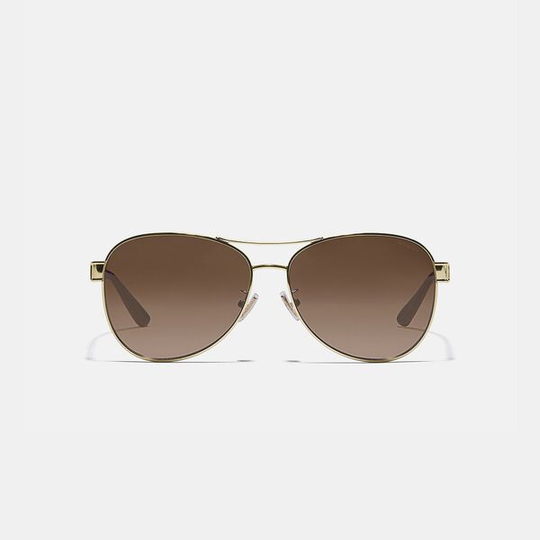 Signature Pilot Sunglasses, LIGHT GOLD, hi-res