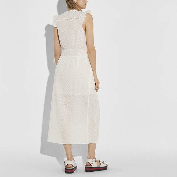 Broderie Anglaise Maxi Dress, CREAM, hi-res