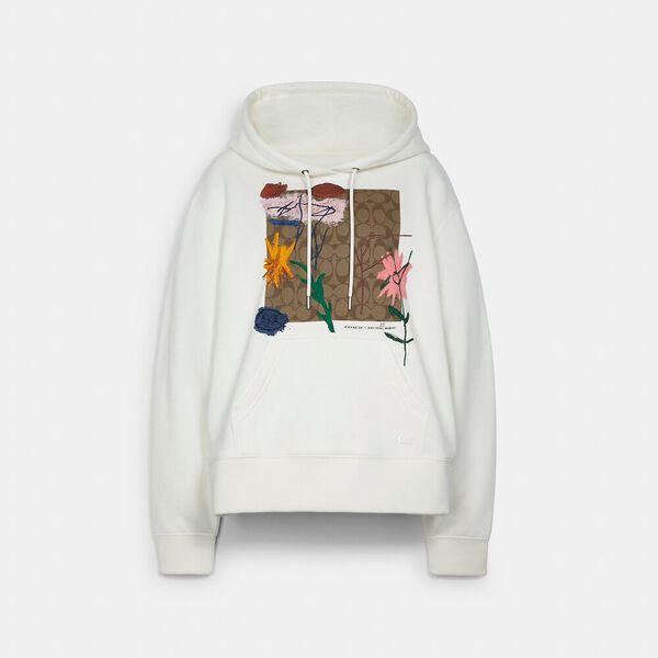 Coach X Jean-Michel Basquiat Hoodie, WHITE, hi-res
