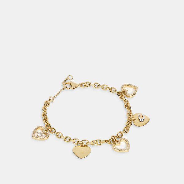 Heart Multi Charm Bracelet