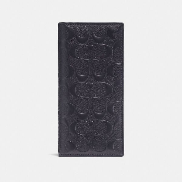 Breast Pocket Wallet In Signature Leather, MIDNIGHT, hi-res