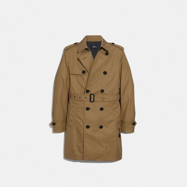 Trench Coat, KHAKI, hi-res