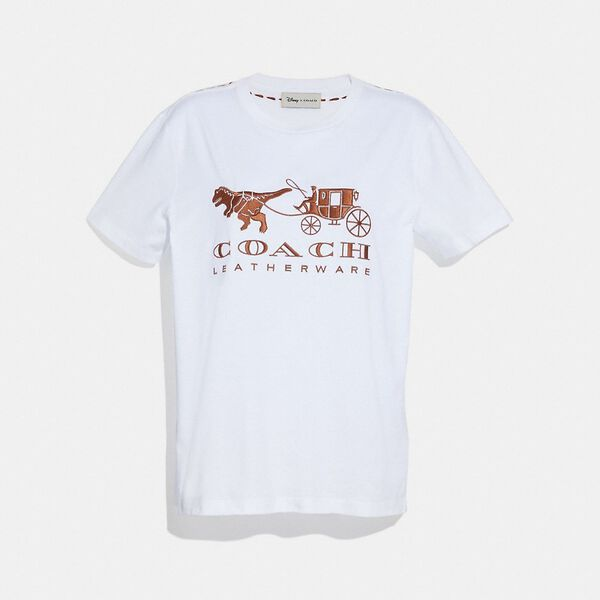 Rexy And Carriage T-Shirt, WHITE, hi-res